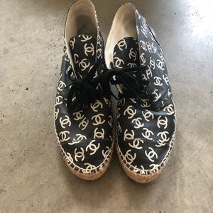 Chanel Espadrilles size 40 but run small.